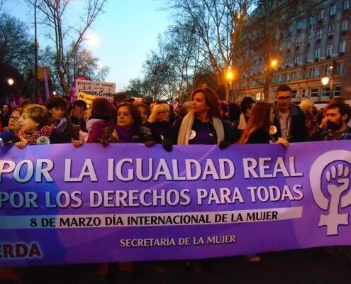 La Izquierda en la manifestación por el 8 de marzo. Día de la mujer