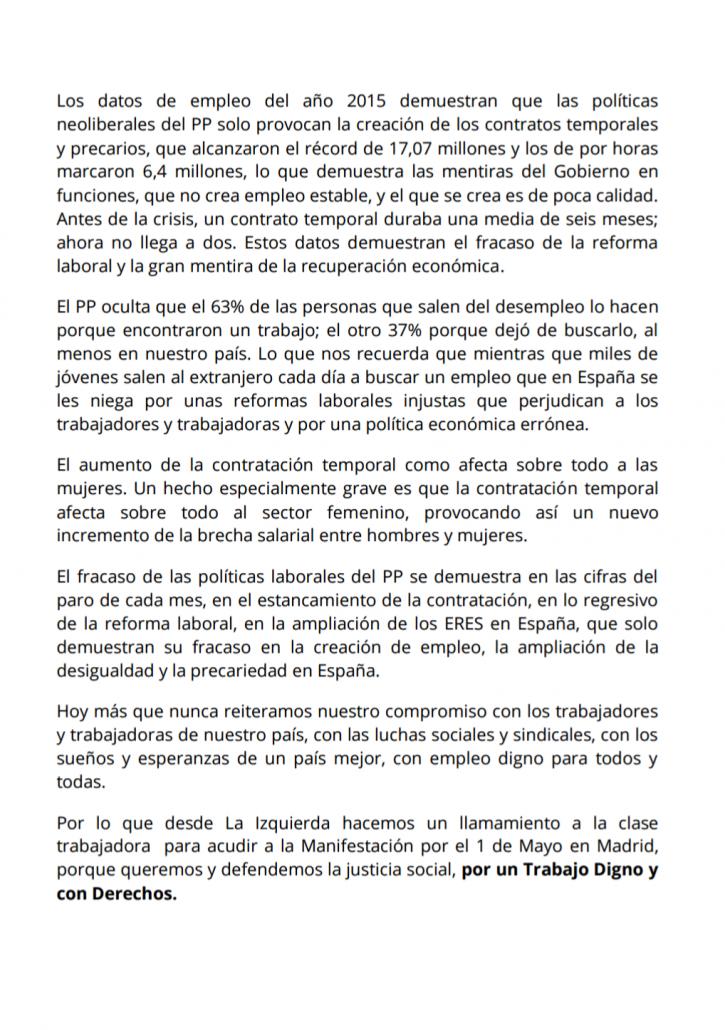 MANIFIESTO DE LA IZQUIERDA POR EL 1 DE MAYO PÁG 2