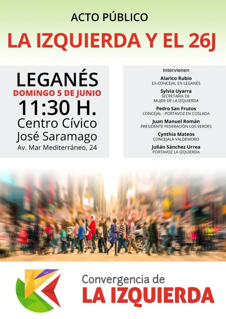 Acto Público La Izquierda en Leganés